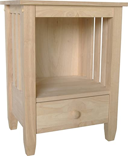 tall end tables. International Concepts BJ6TD Mission Tall End Table, Unfinished Tables E