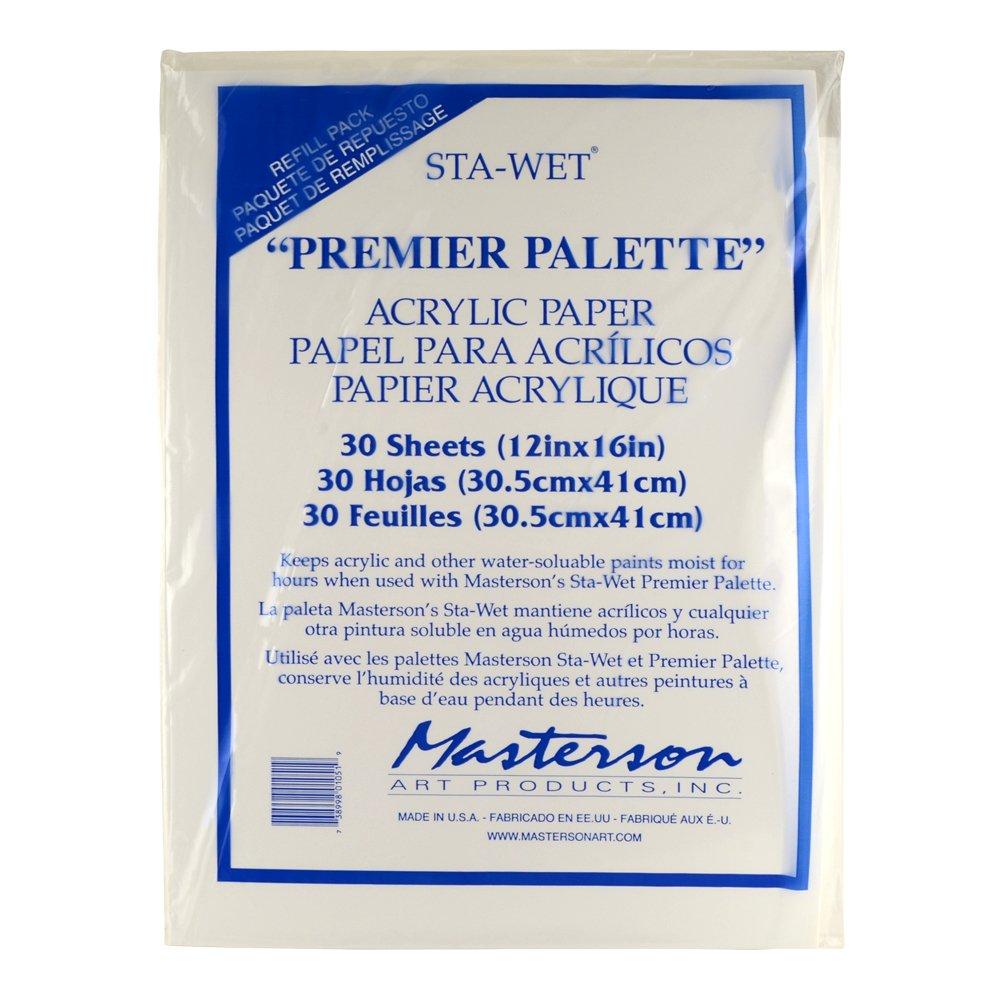 Masterson Sta-Wet Premier Acrylic Paper 30Pk MASTERSON ART PRODUCTS