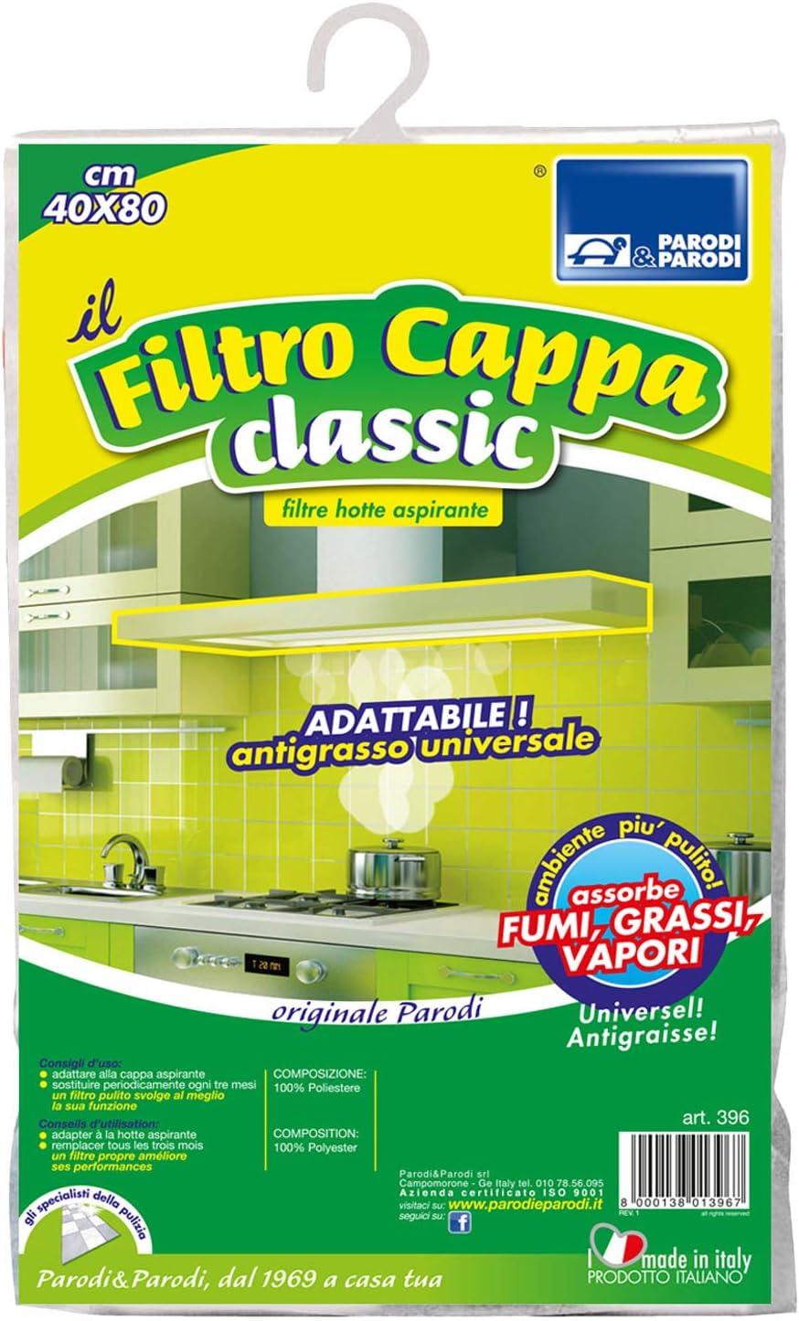 Parodi & Parodi Cappa Classic Filtro para Campanas extractoras, poliéster, Blanco, 20 x 26 x 5 cm