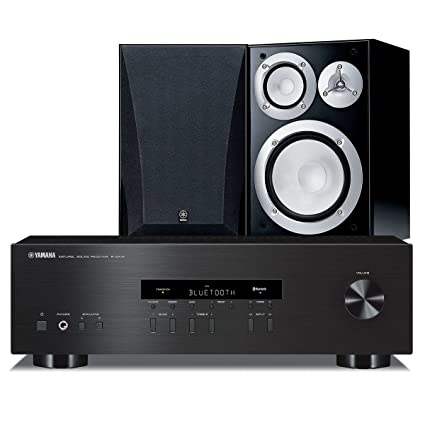 Yamaha NS 6490 Bookshelf Stereo Speakers With R S202 Receiver