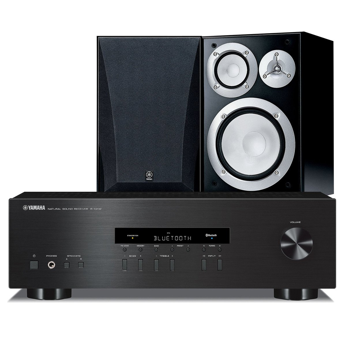 Yamaha NS-6490 Bookshelf Stereo Speakers with R-S202 Stereo Receiver by Yamaha