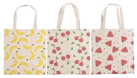 Amazon.com: Bolsas de comestibles reutilizables – Pack de 3 ...
