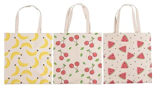 Bolsas reutilizables para comestibles - 3 bolsas con asas, 3 ...