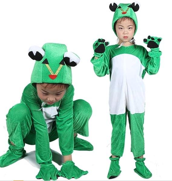 Disfraces de animales para niños Disfraz de pijama con capucha y unisex (Rana, M