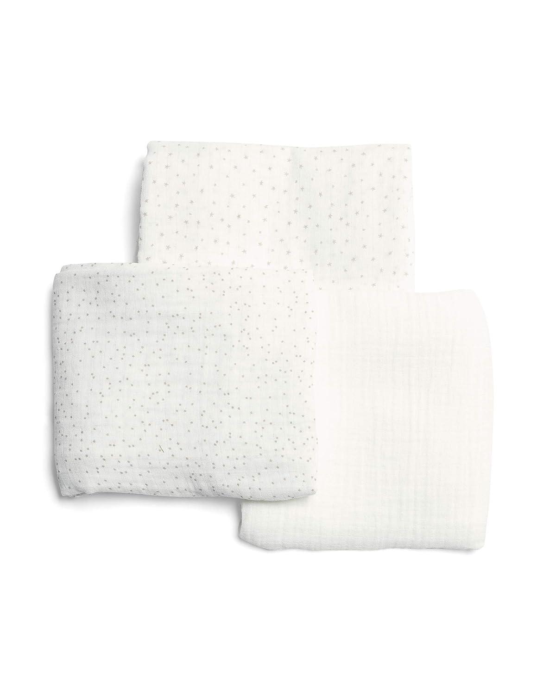 Mamas & Papas Muslin Squares, White, Pack of 5, Nursing Accessory Mamas and Papas 723102700