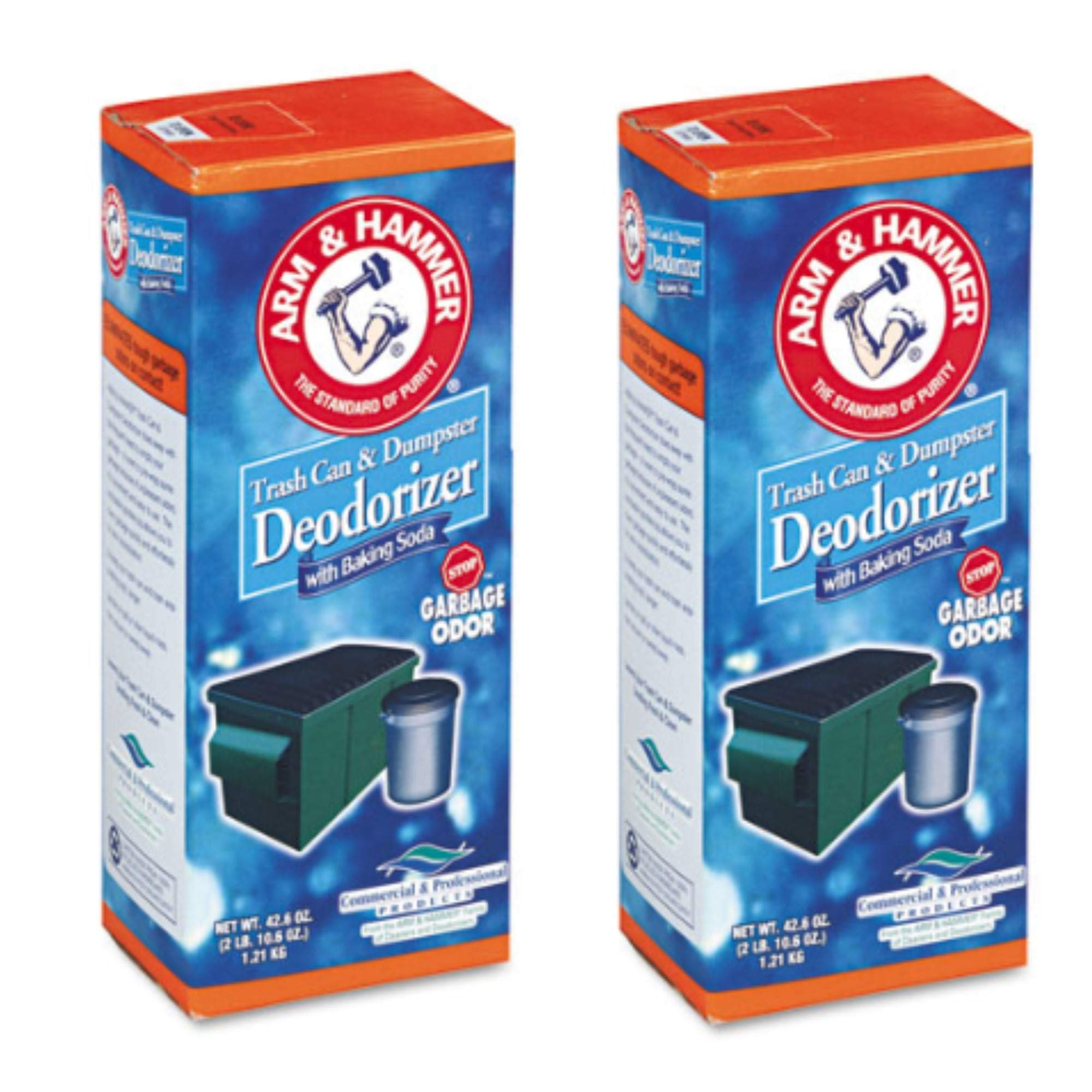 Arm & Hammer 84116 42.6 oz Trash and Dumpster Deodorizer Can (2 PACK) by Arm & Hammer