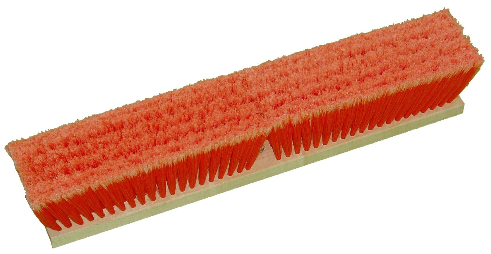 Zephyr 39136 Styrene Soft Tip Polypropylene Push Broom, 36'' Head Width, Orange (Case of 12)