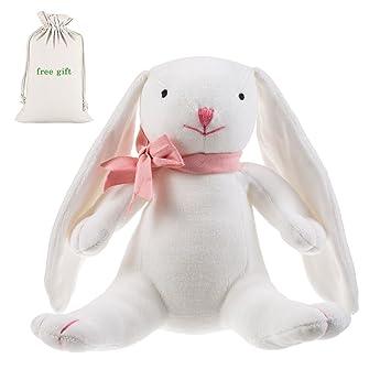 9d69f0c50 Amazon.com : Benaturalbaby 100% Organic Cotton Stuffed Animal Plush Bunny ( Baby First Lovely Bunny), 7.9 inch : Baby