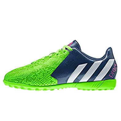 36b6b360f45f ... uk adidas predito instinct tf soccer sneaker shoe rich blue running  white neon green a4a40 1ba9d