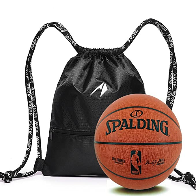 65a9c24cdad AOFENG Waterproof Drawstring Backpack Sports Gym Bag School PE Bag Sack Pack  for Girls Boys Mens  Amazon.co.uk  Sports   Outdoors