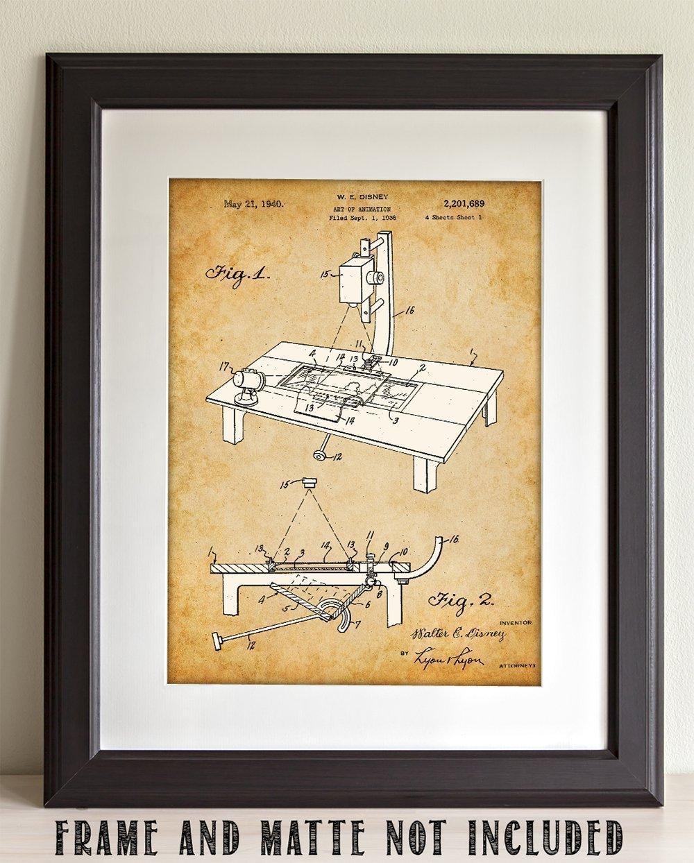Amazon.com: Walt Disney Art of Animation - 11x14 Unframed Patent ...