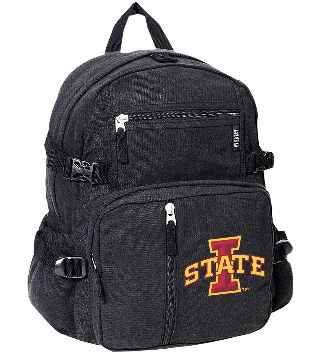 アイオワ州状態バックパックキャンバスISU Cyclones学校や旅行バッグ   B01E7SJAHY