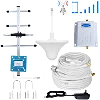 Phonelex ATT Cell Phone Signal Booster 4G LTE 700Mhz FDD Band12/17 AT&T Cell Phone Booster Repeater AT&T Mobile Signal Booster Amplifier Indoor Ceiling/Outdoor Yagi Directional Antennas Kits for Home