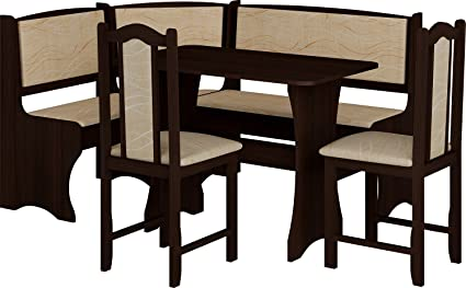 breakfast kitchen nook table set l shaped storage bench with chairs vange color - Kitchen Nook Table