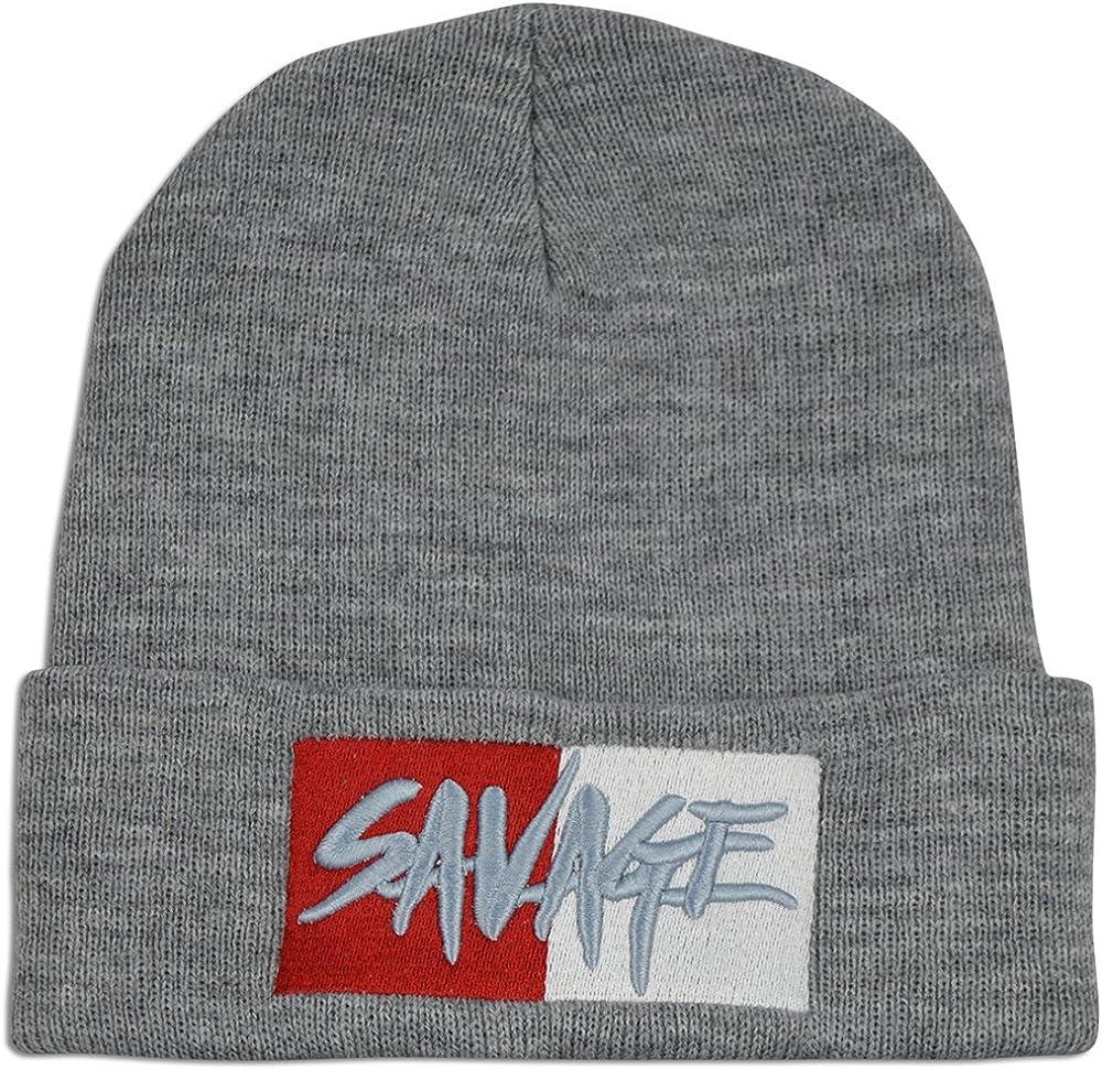SUPER Q Unisex Savage Stylish Beanie Warm Knit Skull Cap Plain Hat Daily Wear