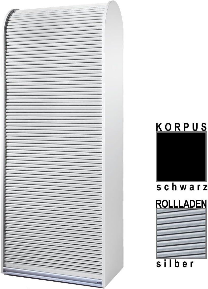 Klenk Dancer Collection Aktenschrank Korpus Silber Rollladen