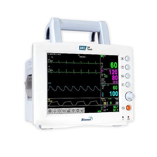 Bionet BM3 VETERINARY - Multi-Parameter Veterinary Patient Monitor - ECG NIBP SpO2 Resp