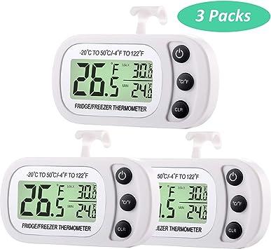 Termómetro Digital de Refrigerador y Congelador Termómetro de Sala ...