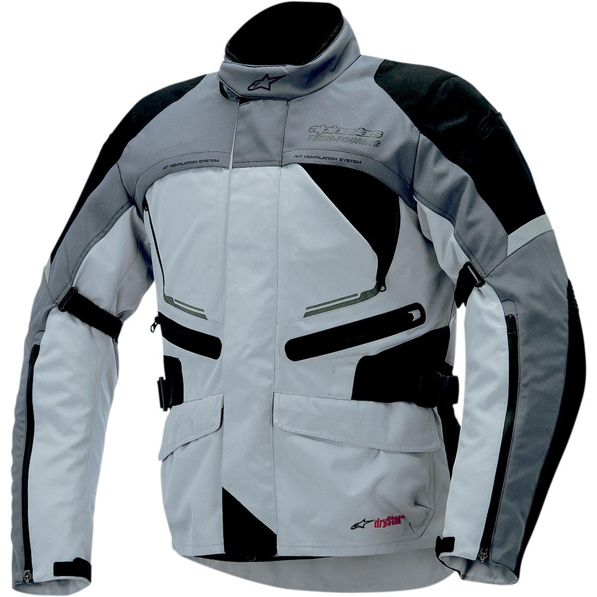 Distinct Name: Black//Light Gray//Dark Gray 3204014-9211-3X Apparel Material: Textile Primary Color: Gray Gender: Mens//Unisex Size: 3XL Alpinestars Valparaiso Drystar Jacket