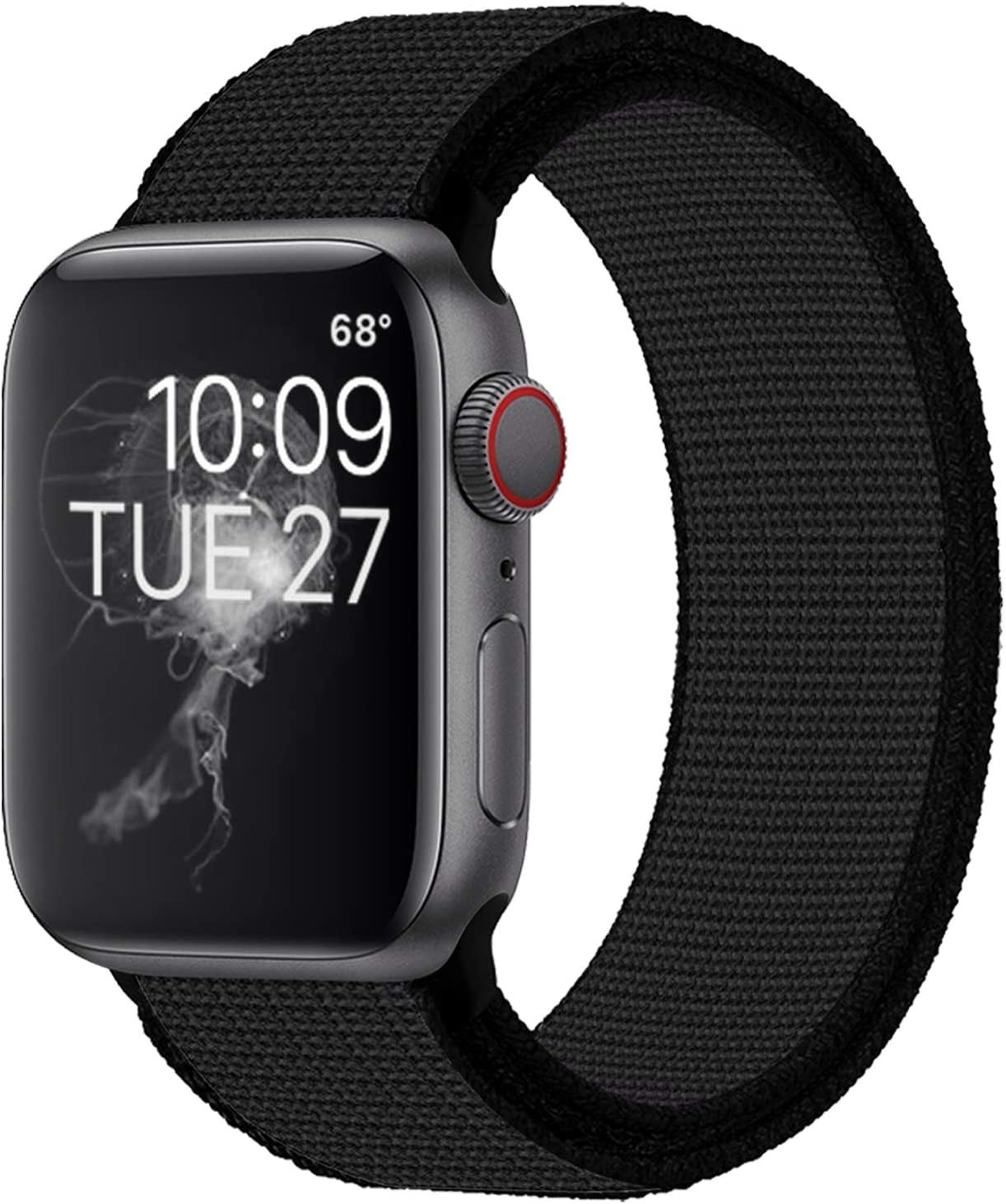 Band4u Compatible with for Apple Watch Band 38mm 40mm 42mm 44mm, Soft Adjustable Lightweight Replacement Wristbands Compatible with for iWatch Series 6 5 4 3 2 1 SE