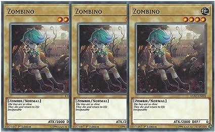3 x Zombino - Common 1st Edition EXFO-EN001
