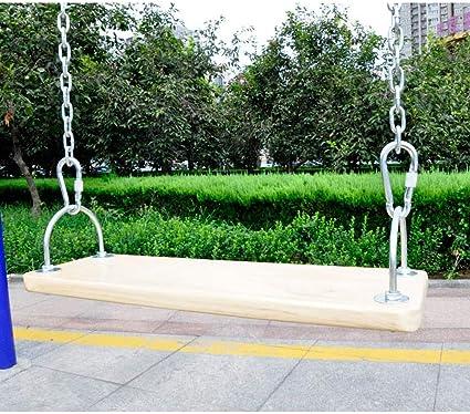 HYQQ Jardín Al Aire Libre Madera Juego de jardín Columpio de Madera Asiento Ajustable for niños Adulto Suspensión Interior Patio al Aire Libre Columpio (Size : 50×16cm): Amazon.es: Hogar
