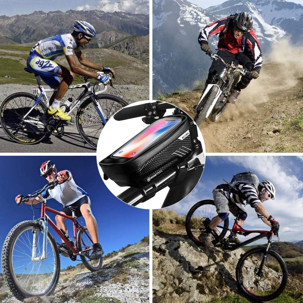 ENONEO Borsa Bicicletta Impermeabile Borsa Telaio Bici con Touchscreen Sensibile Borsa da Manubrio Bici Borsa Bici Cellulare per iPhone 11//X//XR//XS//Samsung S9 Plus//S8//Huawei P30 per Telefono 7 Pollici