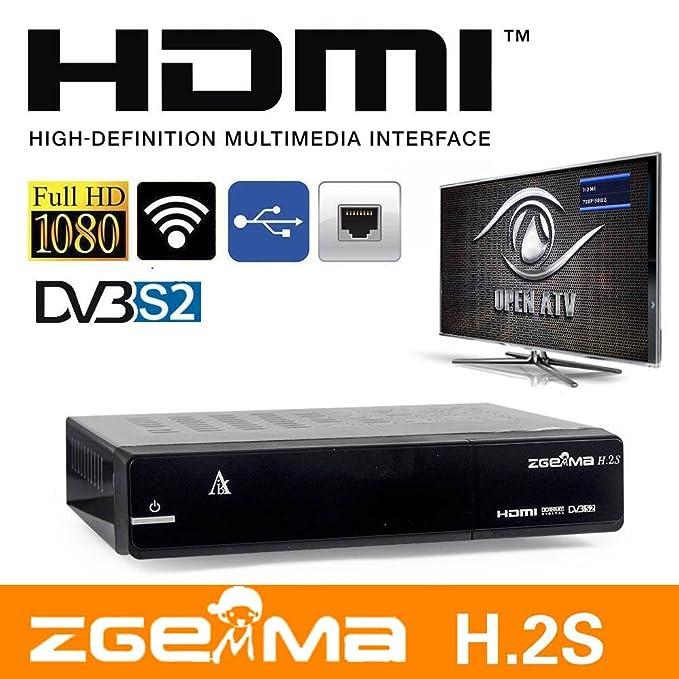 Zgemma H 2S Twin Tuner DVB-S2 Sat Receiver, Full 7Day EPG, Blue HD Skin,  Fully Plug and Play