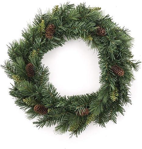 Feeric Lights Christmas Deco Noel Couronne De Noel Pommes De Pin Diametre 60 Cm Coloris Vert