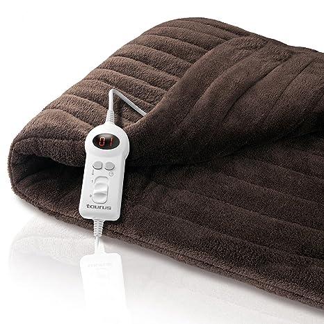 Taurus Comfort Therm - Manta eléctrica, 100 W, 162 x 122 cm, con temporizador: ELECTRODOMESTICOS TAURUS S.L.: Amazon.es: Hogar