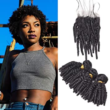 Amazon.com : Afro Kinky Curly Weave Short Hairstyles, Malaysian Hair ...