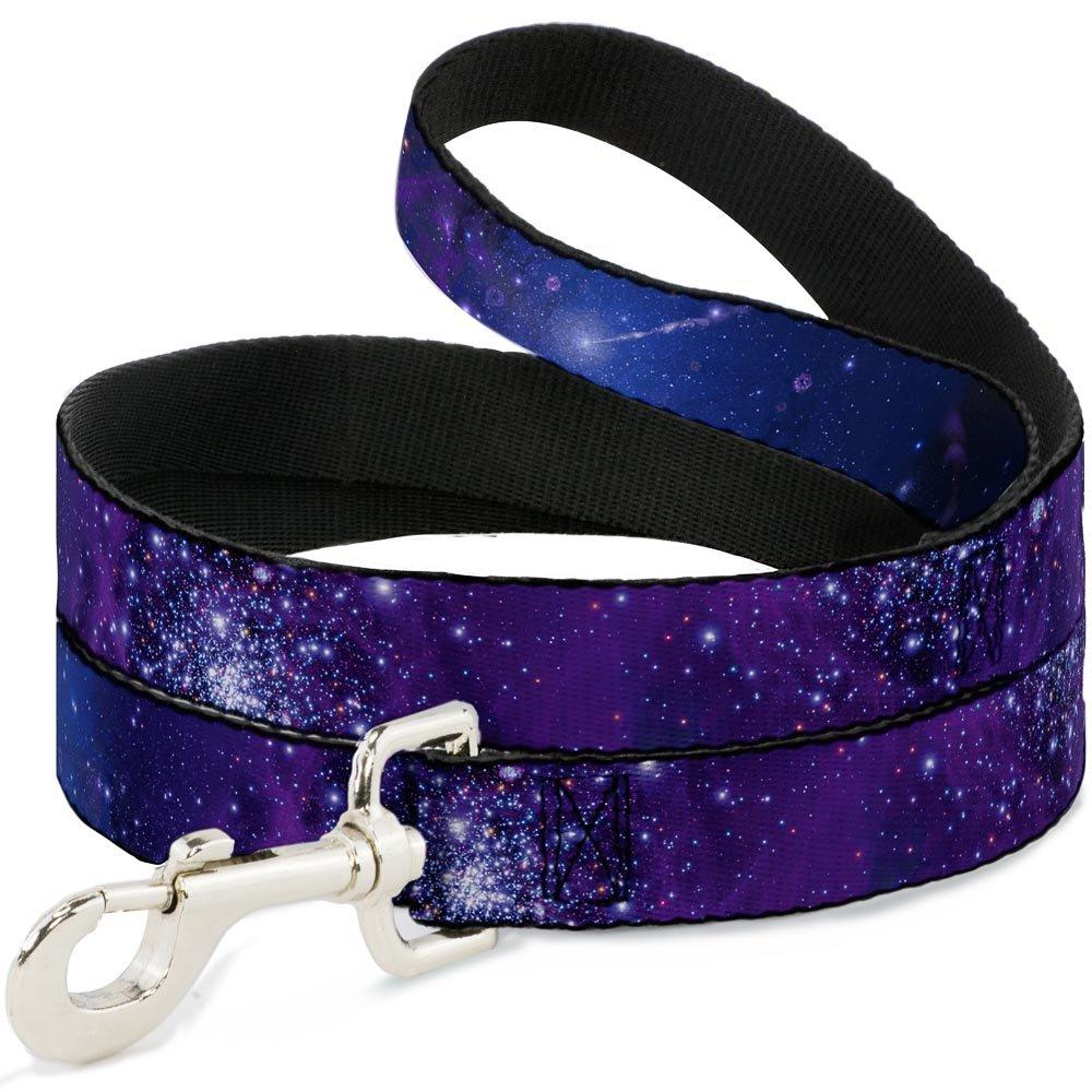 Buckle Down Pet Leash - Galaxy Blues/Purples - 6 Feet Long - 1'' Wide