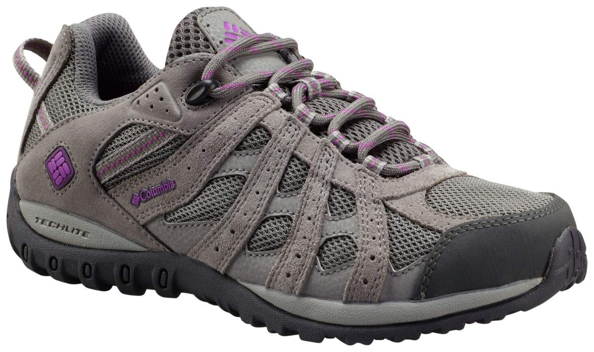 Columbia Women's Redmond Waterproof Hiking Shoe, Charcoal, Razzle, 5 B US