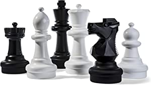 Kettler Giant Chess Pieces Complete Set with 25 Inches Tall King - White and Black