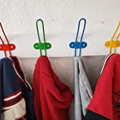 Tibres - Kids Coat Hook Rack for Boys and Girls for Jackets Clothes Hats Backpacks Robes and Towels - Kids Hanger for Use in Nursery Bedroom and ...