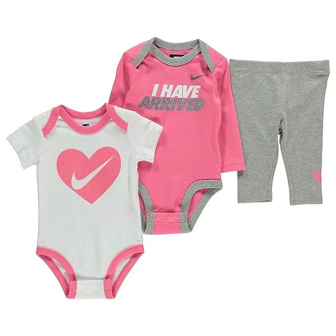 1365d6170 Nike Jordan - Juego de 2 Body y 1 pantalón para bebé recién Nacido (3  Piezas)