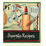 Recipe Binder Set with Plastic Page Protectors and Recipe Cards, Cook with Love