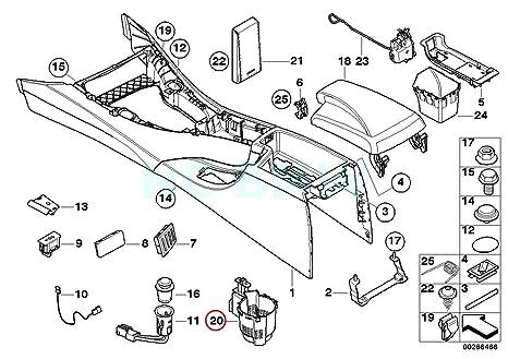 Amazon Com Bmw Genuine Rear Oddments Tray Centre Console Automotive
