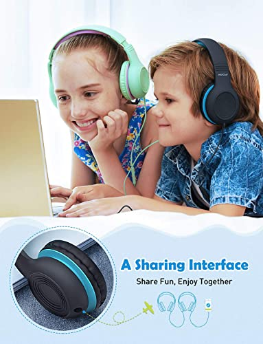 Mpow CH6 2019 New Version Kids Headphones Over-Ear On-Ear, HD Sound Sharing Function Headphones for Children Boys Girls, Volume Limited Safe Foldable Headset w Mic for School PC Cellphone