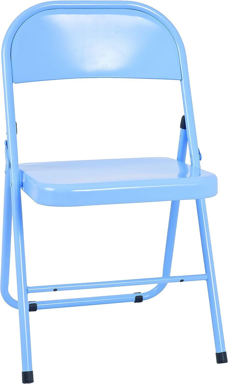 Acier 46 x 47 x 78 Bleu Haku Moebel Lot de 4 chaises Pliantes