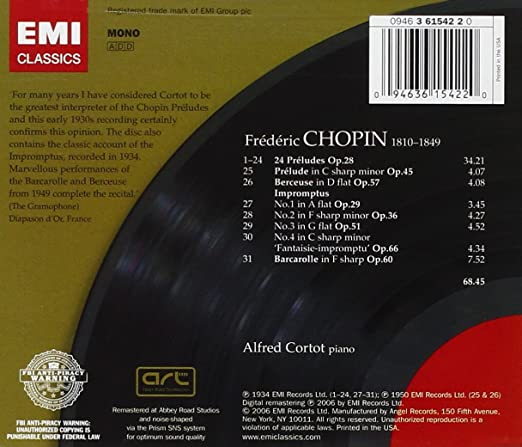 CORTOT CHOPIN PRELUDES EBOOK
