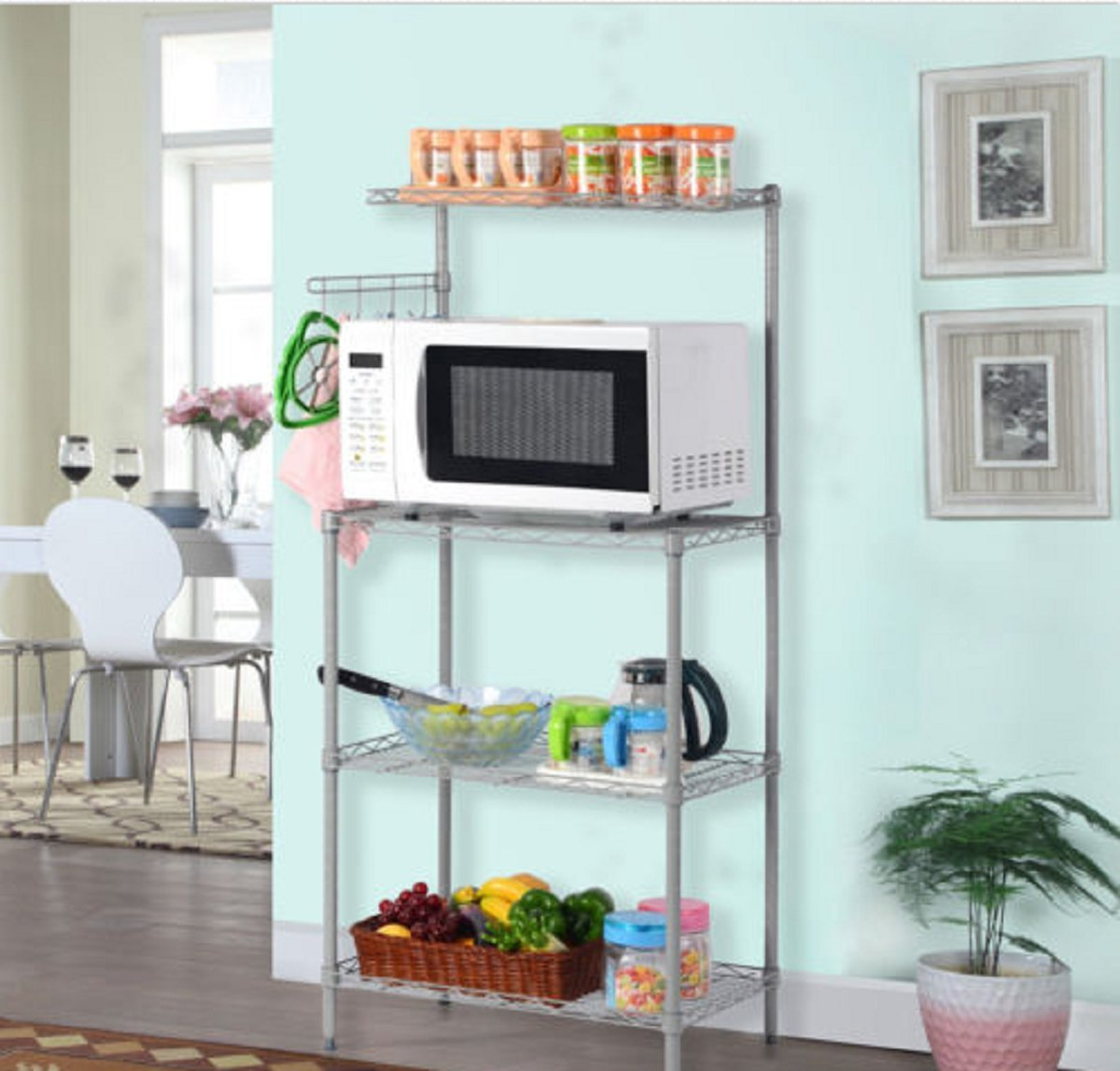 Amazon.com: 3-Tier Kitchen Baker\'s Rack Microwave Oven Stand Storage ...