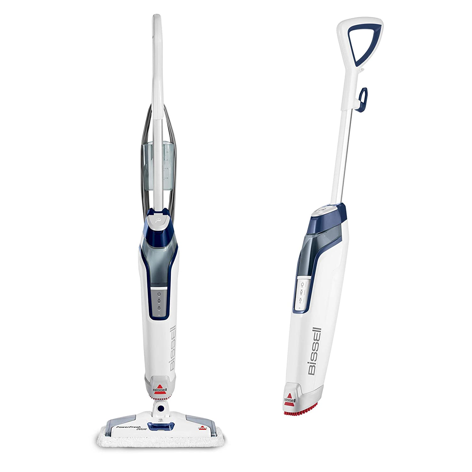 Bissell Powerfresh Deluxe Steam Mop, Steamer, Tile, Hard Wood Floor Cleaner, 1806, Sapphire (Certified Refurbished)