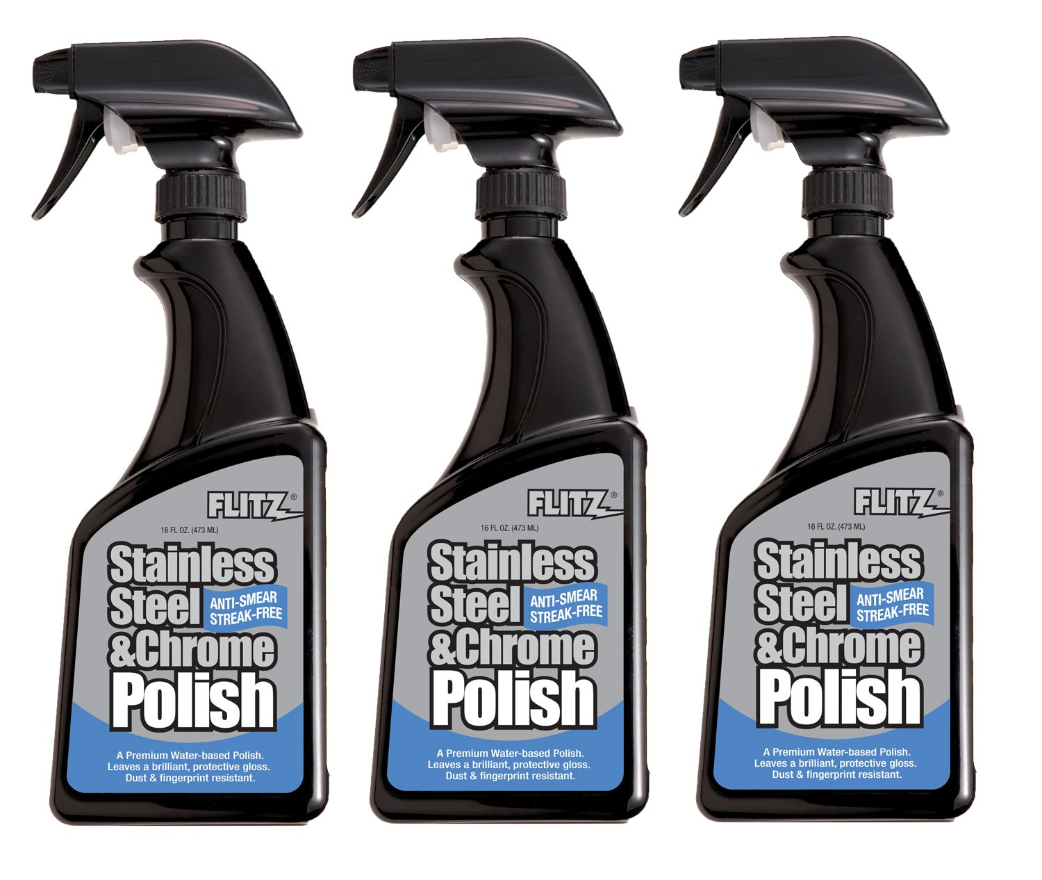 Flitz SS 01306-12A Stainless Steel Polish, 16 oz. Spray Bottle, 12-Pack