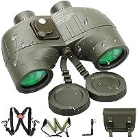 BNISE 10x50 Prismáticos Profesionales con Telemetro para Adultos Binoculares, Caza Observación, con Correa Tipo Arnés…