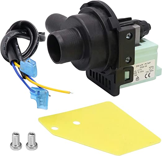 Replacement for Haier Washers Beaquicy WD-5470-09 Washers Drain Pump Replaces PPSB-04 GWT450AW HLP22P RWT150AW AP3437784 1227046 PS4128791
