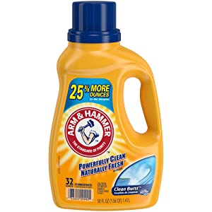 Arm & Hammer Liquid Laundry, Clean Burst Dual He, 50 Fluid Ounce