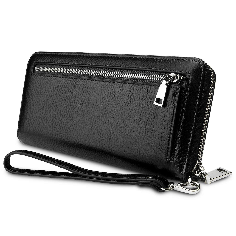 YALUXE Women's Leather RFID...