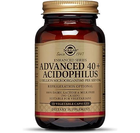 Solgar® 40+ Acidophilus Avanzado para una flora intestinal equilibrada - 60 cápsulas vegetales: Amazon.es: Salud y cuidado personal