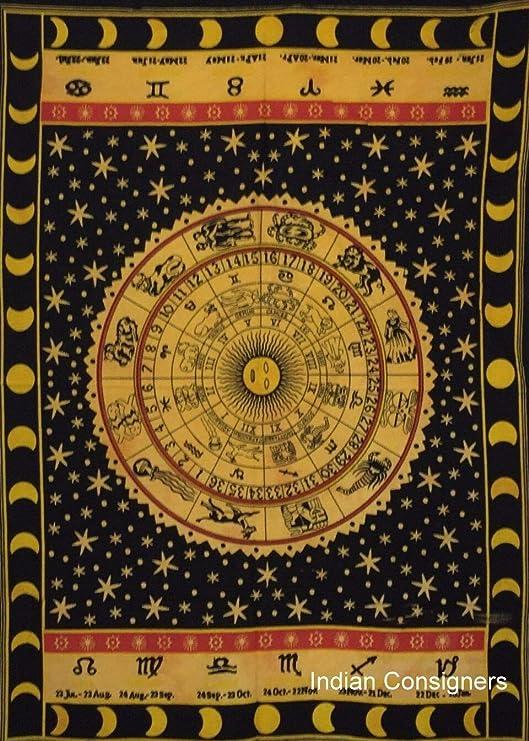 XURANFANG Cartel del zodíaco Tapiz pequeño Colgante de Pared ...